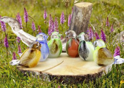 Urn vogeltjes, in meerdere kleuren beschikbaar, 8 cm hoog, inhoud 30ml, 72,00 euro
