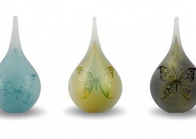 Urn voor deelbestemming crematie-as 180ml, 3 kleuren, gezandstraald met afbeelding 129,95 euro