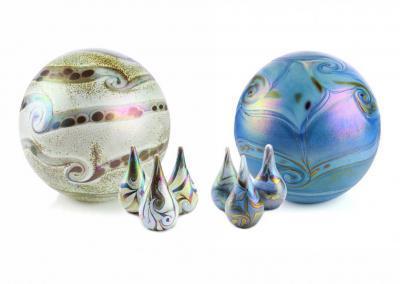 Urnen uit de Elan line, in meerdere modellen en afmetingen beschikbaar, grote bol ook voor gehele crematie-as inhoud , 4 liter